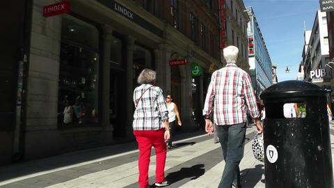 Stockholm Drottniggatan 19 pov native slowmotion Stock Video Footage