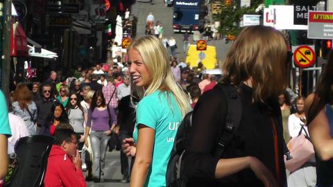 Stockholm Drottniggatan 22 Stock Video Footage