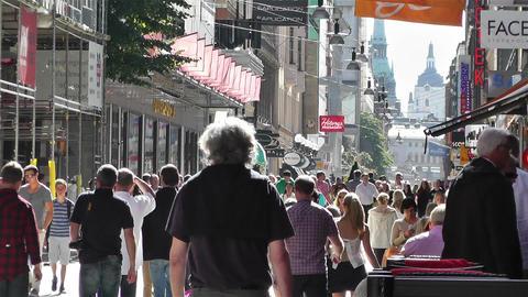 Stockholm Drottniggatan 24 Stock Video Footage