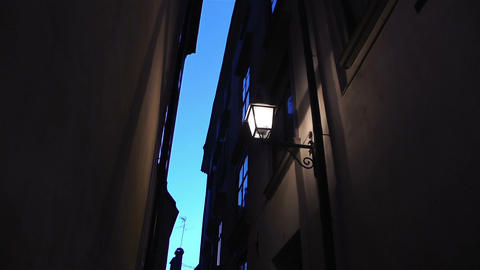 Stockholm Gamla Stan 21 night Stock Video Footage