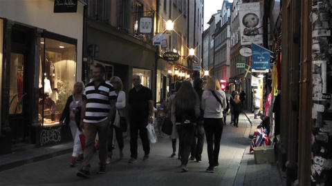 Stockholm Gamla Stan 23 evening Stock Video Footage