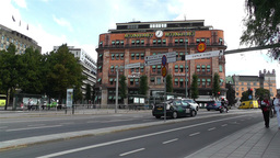 Stockholm Norrmalm 2 traffic Stock Video Footage