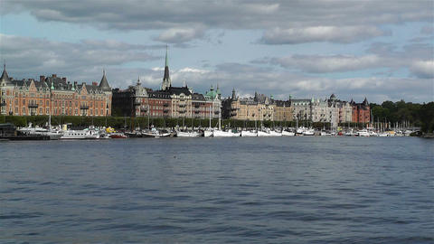 Stockholm Ostermalm 1 harbour Stock Video Footage