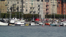 Stockholm Ostermalm 3 harbour Stock Video Footage