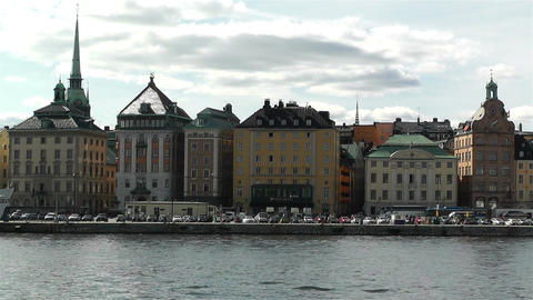 Stockholm Ostermalm 5 harbour Stock Video Footage