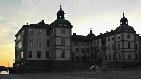 Stockholm Riddarholmen 17 sunset Footage