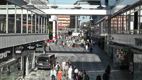 Stockholm Sergelgatan 1 Stock Video Footage