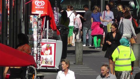 Stockholm Sergelgatan 3 Stock Video Footage
