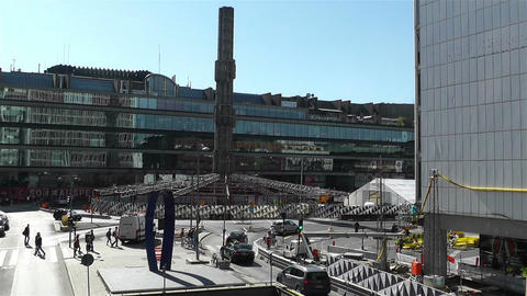 Stockholm Sergel Sqaure 2 Stock Video Footage