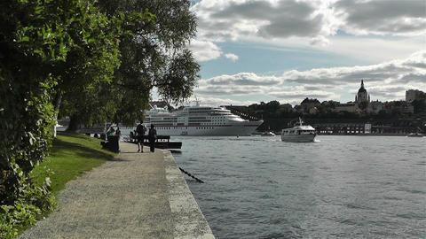 Stockholm Strandvagen 1 traffic Footage