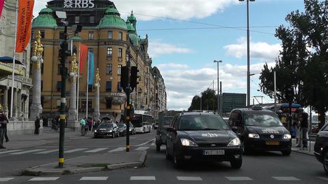 Stockholm Strandvagen 1 traffic Stock Video Footage