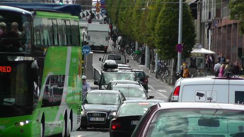 Stockholm Strandvagen 3 traffic Stock Video Footage