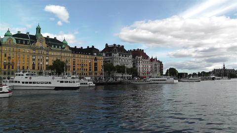 Stockholm Strandvagen 5 harbour Footage