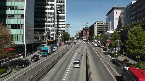 Stockholm Sveavagen 1 traffic Footage