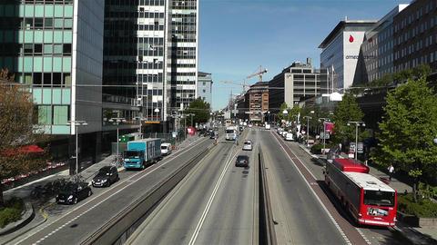 Stockholm Sveavagen 1 traffic Stock Video Footage