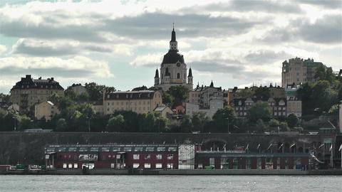 Stockholm Sweden Katarina Church 1 Stock Video Footage