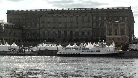 Stockholm Sweden Royal Palace 1 Footage
