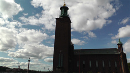 Stockholm Town Hall 3 Stock Video Footage