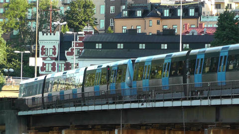 Stockholm Train 1 Stock Video Footage