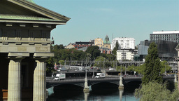 Stockholm Vasabron and Central Station view Stock Video Footage
