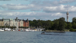 Stockholm view from Gamla Stan 3 Stock Video Footage