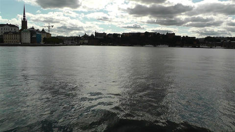 Stockholm view from Kungsholmen 1 Stock Video Footage