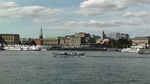 Stockholm view from Skeppsholmem 4 Stock Video Footage