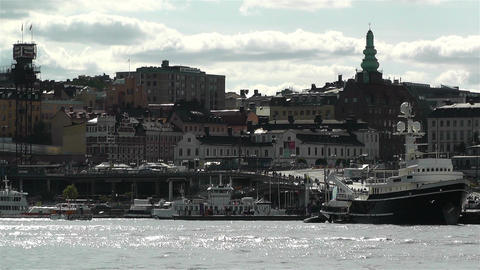 Stockholm view from Skeppsholmem 10 Stock Video Footage