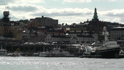 Stockholm view from Skeppsholmem 10 Stock Video Footage