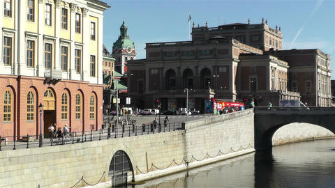 Stockholm view to Opera Building 2 Footage
