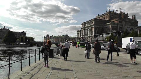 Swedish Opera Stockholm 2 Stock Video Footage