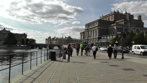 Swedish Opera Stockholm 2 Stock Video Footage