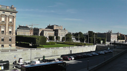 Swedish Opera view from Royal Palace Stockholm Stock Video Footage