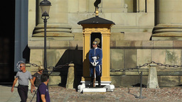 Swedish Royal Palace Stockholm 10 guard Stock Video Footage