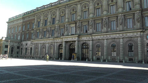 Swedish Royal Palace Stockholm 12 Stock Video Footage
