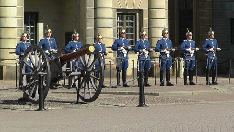 Swedish Royal Palace Stockholm 18 guard change Footage