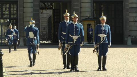 Swedish Royal Palace Stockholm 20 guard change Footage