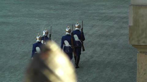 Swedish Royal Palace Stockholm 24 guards Stock Video Footage