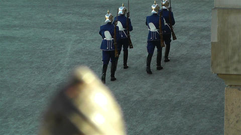 Swedish Royal Palace Stockholm 24 guards Footage