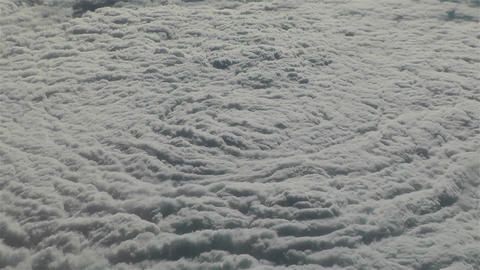 Thunderstorm Clouds from Above 2 Footage