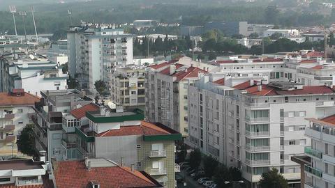 Town near Lisbon Portugal 12 aerial Footage