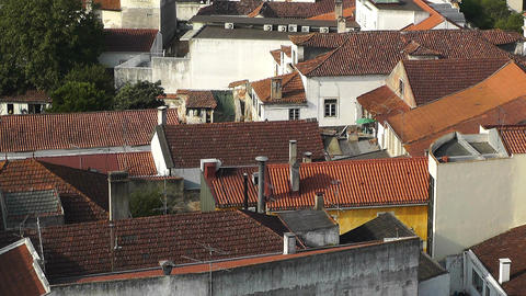 Town near Lisbon Portugal 14 aerial Stock Video Footage