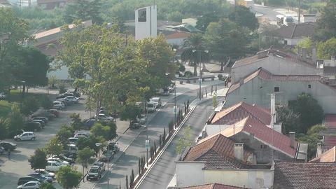 Town near Lisbon Portugal 16 aerial Footage