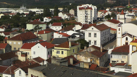 Town near Lisbon Portugal 18 aerial Stock Video Footage