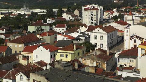 Town near Lisbon Portugal 18 aerial Footage