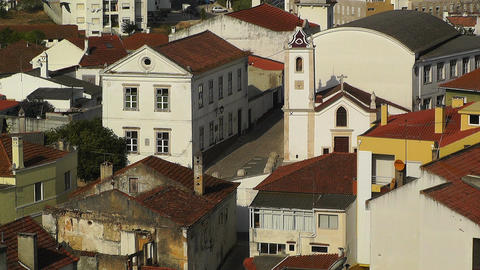 Town near Lisbon Portugal 20 aerial Stock Video Footage