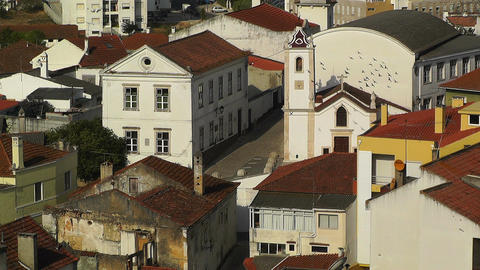 Town near Lisbon Portugal 20 aerial Footage