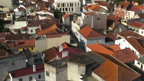 Town near Lisbon Portugal 22 aerial Stock Video Footage