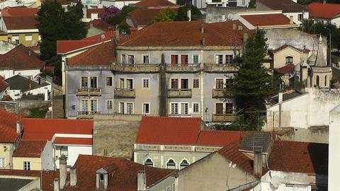 Town near Lisbon Portugal 24 aerial Footage