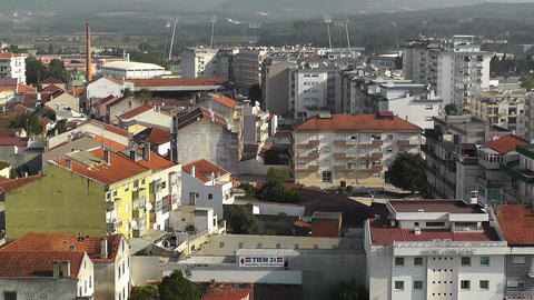 Town near Lisbon Portugal 26 aerial Stock Video Footage
